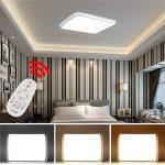 Hengda® 48W LED Plafonnier Moderne Mince Carré Dimmable LED Lampe de Plafond Pour Salon, Cuisine, Chambre à Coucher, Hôtel [Classe énergétique A++] de la marque Hengda image 4 produit