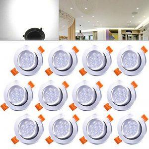 Hengda® Blanc 7W Spots Encastrables Projecteur de plafond LED Projecteur Encastré Lampe de la marque Hengda image 0 produit