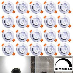 Hengda® Blanc Dimmable 3W Spots Encastrables Projecteur de plafond LED Projecteur Encastré Lampe de la marque Hengda image 0 produit