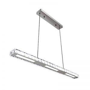 Hengda LED Lampe suspension Salle à Manger, 24W à intensité variable Suspension, avec télécommande, acrylique Cristal, 800* 75* 1200mm [Classe énergétique A + +] de la marque WIS image 0 produit