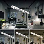 Hengda LED Lampe suspension Salle à Manger, 24W à intensité variable Suspension, avec télécommande, acrylique Cristal, 800* 75* 1200mm [Classe énergétique A + +] de la marque WIS image 4 produit