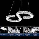 HENGDA® LED plafonnier cristal Lampe suspension Lustre, Lustre pour le salon chambre couloir, Couleur de la lumière moderne de luxe, Dimmbar, no 36.0 wattsW de la marque Hengda image 1 produit