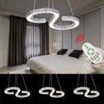HENGDA® LED plafonnier cristal Lampe suspension Lustre, Lustre pour le salon chambre couloir, Couleur de la lumière moderne de luxe, Dimmbar, no 36.0 wattsW de la marque Hengda image 3 produit