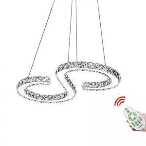 HENGDA® LED plafonnier cristal Lampe suspension Lustre, Lustre pour le salon chambre couloir, Couleur de la lumière moderne de luxe, Dimmbar, no 36.0 wattsW de la marque Hengda image 0 produit