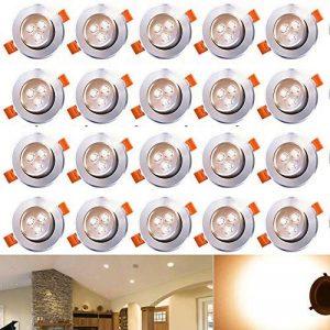 Hengda® Luminaires encastrés à LED 20W 3W, remplace 25W incandescent blanc chaud 3200K 120 ° Abstrahwinkel Luminaires encastrés à LED Spots Luminaires de salon 245lm de la marque Hengda image 0 produit