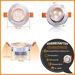 Hengda® Luminaires encastrés à LED 20W 3W, remplace 25W incandescent blanc chaud 3200K 120 ° Abstrahwinkel Luminaires encastrés à LED Spots Luminaires de salon 245lm de la marque Hengda image 1 produit