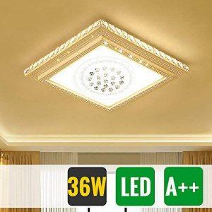 HG® 48W plafonnier ronde en cristal LED de plafond dimmable 320-4320LM salon 180V-265V de la marque huigou image 0 produit