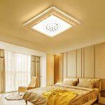 HG® 48W plafonnier ronde en cristal LED de plafond dimmable 320-4320LM salon 180V-265V de la marque huigou image 3 produit