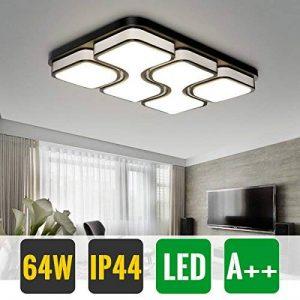 HG® 64W LED Plafonnier LED Lampe de Plafond Froid Blanc Plafonnier Design Agréable Lumière Salon Éclairage Applique de la marque huigou image 0 produit