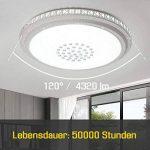 HG® Design inspiré Plafonnier LED rond Effet Cristal deckenleuchte Salon Star Light Rund 36W Weiß (Rond 48W Blanc Froid) de la marque huigou image 1 produit
