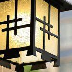 HhGold Lampe de Mur Chinois Japonais Simple extérieure extérieure imperméable à l'eau Villa Porte Hall Jardin Jardin Imitation rétro lumières (coloré : -, Taille : -) de la marque HhGold image 3 produit