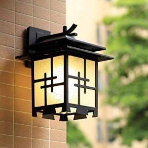 HhGold Lampe de Mur Chinois Japonais Simple extérieure extérieure imperméable à l'eau Villa Porte Hall Jardin Jardin Imitation rétro lumières (coloré : -, Taille : -) de la marque HhGold image 0 produit