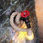 Hines Applique Murale Chanvre Corde Chandelier Conduite d'eau Luminaire Industriel Rétro Lampe murale créative lampe 1 Douille E27 Parfait Eclairage Decoratif de la marque Hines love Chandelier image 2 produit