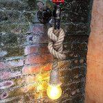 Hines Applique Murale Chanvre Corde Chandelier Conduite d'eau Luminaire Industriel Rétro Lampe murale créative lampe 1 Douille E27 Parfait Eclairage Decoratif de la marque Hines love Chandelier image 3 produit