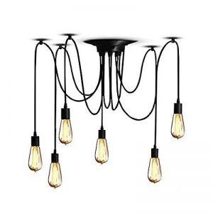 HJXDtech - Industriel Pendentif Lampe Lustre à araignée bricolage Luminaire Suspendu multiple Chambre moderne Lampe de plafond de la marque HJXDtech image 0 produit