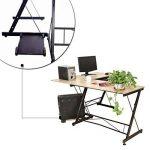 HLC Table Bureau Informatique Bureau d'Angle Ordinateur 161*120*73cm Couleur Naturelle-035 de la marque HLC image 1 produit