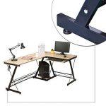 HLC Table Bureau Informatique Bureau d'Angle Ordinateur 161*120*73cm Couleur Naturelle-035 de la marque HLC image 4 produit