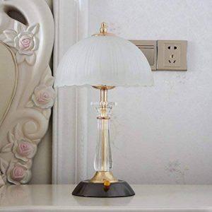 HM&DX Moderne Lampe de table variateur,Décor Lampe de chevet Abat-jour en verre Base en métal Éclairage nocturne Lampe de lecture Pour Salon couverture Chambre Office -noir de la marque HM&DX image 0 produit