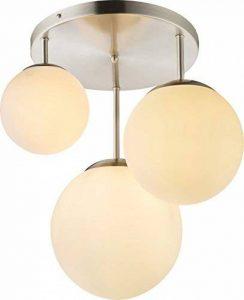 hängelampe avec 3boules en verre hänge Lampe navette Lampe salle à manger Lampe (Pendel Lampe de salon Lampe de 47x 44cm Boule de lampe) de la marque Globo image 0 produit