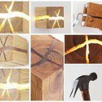 HOIHO Bois Crack Split bois Mur lampes créative originale en bois massif conduit lampe de chevet allées lumières décoratives petite nuit lumière commerciale bois mur lampe de la marque HOIHO image 4 produit