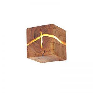 HOIHO Bois Crack Split bois Mur lampes créative originale en bois massif conduit lampe de chevet allées lumières décoratives petite nuit lumière commerciale bois mur lampe de la marque HOIHO image 0 produit