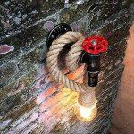 HOIHO Retro Creative tuyau d'eau Lampe Café Restaurant barber magasin de vêtements Escalier Corridor corde industrielle Applique de la marque HOIHO image 4 produit