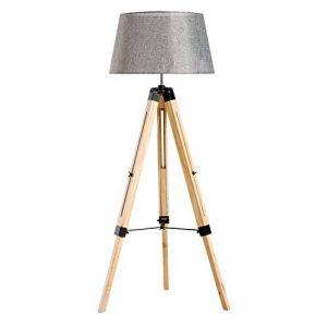 Homcom Lampadaire Trépied Hauteur Réglable 65 x 65 x 99-143 cm Lampe de Sol 40 W Bois Style Nordique de la marque Homcom image 0 produit