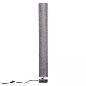 Homcom Lampe lampadaire Colonne sur Pied Abat-Jour Lin Circulaire Double Lumière Tamisée 40 W Dim. Ø 15 x 120H cm Gris Chiné 28 de la marque Homcom image 0 produit