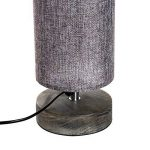 Homcom Lampe lampadaire Colonne sur Pied Abat-Jour Lin Circulaire Double Lumière Tamisée 40 W Dim. Ø 15 x 120H cm Gris Chiné 28 de la marque Homcom image 4 produit