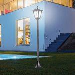 Homcom Luminaire extérieur Solaire lampadaire Lanterne Classique LED 40 LM Dim. 18L x 18l x 160H cm Noir 08 de la marque Homcom image 1 produit