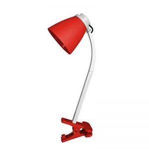 HOMEA 6LCE089RO Lampe de bureau à clipser Plastique Rouge 36 cm de la marque HOMEA image 0 produit