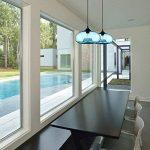 Homelavafans Lustre en verre Lampe Douille de lampe E27 60 W Suspension en conception de bulle luminaire moderne décoration bleu, pour salle ,cuisine,Salon,chambre de enfant de la marque HomeLava image 1 produit