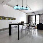 Homelavafans Lustre en verre Lampe Douille de lampe E27 60 W Suspension en conception de bulle luminaire moderne décoration bleu, pour salle ,cuisine,Salon,chambre de enfant de la marque HomeLava image 2 produit