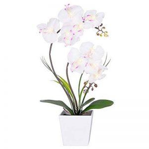 Homeseasons avec LED Fleur artificielle Arrangement-battery à pot à orchidée avec 9lumières de la marque Homeseasons image 0 produit