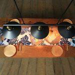 Homestia Lustre Industriel à 3 Lampes avec Poulie en Fer Effet Rétro Noir de la marque Homestia image 3 produit