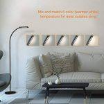 HOMMINI LED Lampadaire de sol,Lampadaire tactile sur pied 5 niveaux de luminosité 12W, 172cm 3 longueurs adjustables,Aluminium & Acier,Efficace pour Salon,Chambre,bureau et studio, Noir de la marque HOMMINI image 1 produit