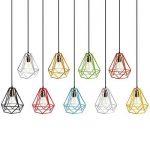 Homyl Cage Métal de Diamant Abat-Jour de Lampe au Plafond Vintage Pendentif Décor - Jaune de la marque Homyl image 1 produit