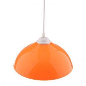 Homyl Lustre en PVC de Semi-Circulaire Abat-jour Pendentif pour Ampoule E27 - Orange de la marque Homyl image 0 produit