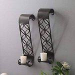 Hosley Lot de 2bougeoirs pilier/LED murale de 35,6cmLe cadeau idéal pour mariage, occasion spéciale, spa, aromathérapie: Fabriquées de façon artisanale.O4. de la marque Hosley image 1 produit