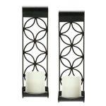 Hosley Lot de 2bougeoirs pilier/LED murale de 35,6cmLe cadeau idéal pour mariage, occasion spéciale, spa, aromathérapie: Fabriquées de façon artisanale.O4. de la marque Hosley image 4 produit