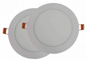 Hothome RPA12R Lot 2spots à encastrer LED 12W Extra-plat Rond 170mm 1080 lm AC 220 V Blanc chaud de la marque Hothome image 0 produit