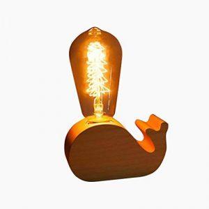 HROOME Moderne Art Bios Animaux cerf dauphin elephant lampe de table de chevet veilleuse variateur verre retro E27 Ampoule edison pour enfant chambre de la marque HROOME image 0 produit