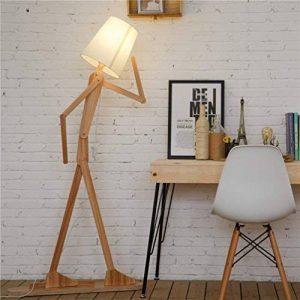 HROOME Nordique Decoratif Lampadaire de Salon Moderne Lampe sur Pied Bois avec Abat Jour Blanc Reglable Lampe de Sol Chambre Design(Ash) de la marque HROOME image 0 produit