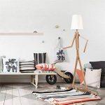 HROOME Nordique Decoratif Lampadaire de Salon Moderne Lampe sur Pied Bois avec Abat Jour Blanc Reglable Lampe de Sol Chambre Design(Ash) de la marque HROOME image 2 produit