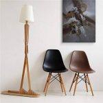 HROOME Nordique Decoratif Lampadaire de Salon Moderne Lampe sur Pied Bois avec Abat Jour Blanc Reglable Lampe de Sol Chambre Design(Ash) de la marque HROOME image 1 produit