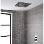 Hudson Reed - Pommeau De Douche 40 x 40cm Encastrable Plafond Design Carré Pluie Bienfaisante de la marque Hudson Reed image 4 produit