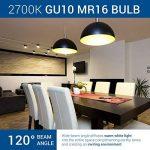 HyperSelect Ampoule LED Spot Culot GU10-5W - Blanc Chaud 2700K - Angle de Faisceau 120° - Éclairage du Plafond pour Rails de Spot/Luminaires - Lot de 6 de la marque Hyperikon image 1 produit