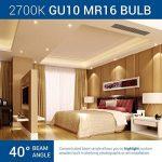 HyperSelect Ampoule LED Spot Culot GU10-5W - Blanc Chaud 2700K - Angle de Faisceau 40° - Éclairage du Plafond pour Rails de Spot/Luminaires - Lot de 12 de la marque Hyperikon image 1 produit