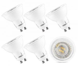 HyperSelect Ampoule LED Spot Culot GU10-5W - Blanc Chaud 2700K - Angle de Faisceau 40° - Éclairage du Plafond pour Rails de Spot/Luminaires - Lot de 6 de la marque Hyperikon image 0 produit