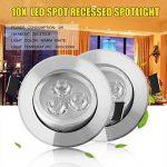 ICOCO 10 x Spot LED Encastrable Blanc Chaud Lampe de Plafond LED Spots Encastrés Spots Encastrable Plafond Spots pour Salle de Bain Salon Couvertures Spot Set 3W 85-265 V (Argent) de la marque Poncherish image 1 produit